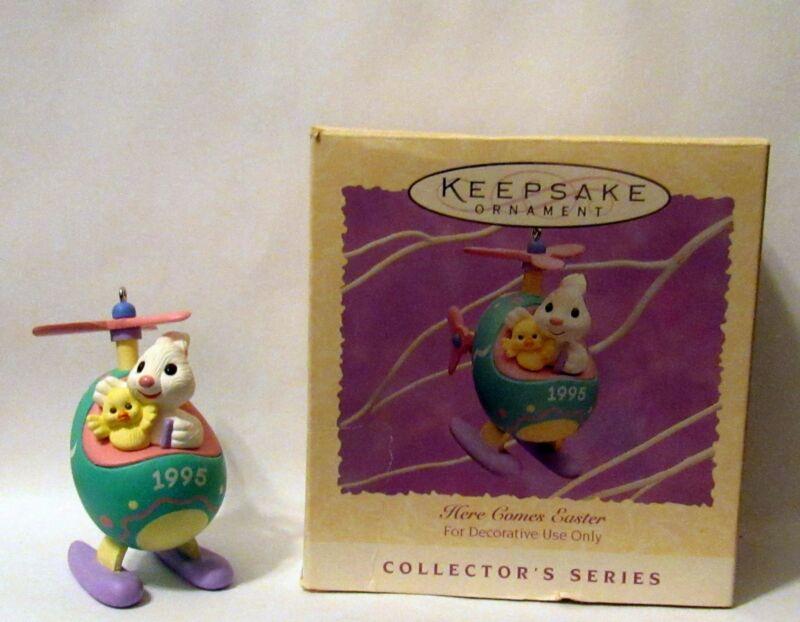 Hallmark Keepsake Ornament Here Comes Easter Bunny 1995 with Original Box