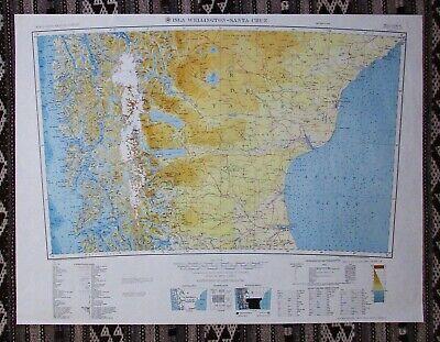 Isla Wellington - Santa Cruz Army Map Service 1959
