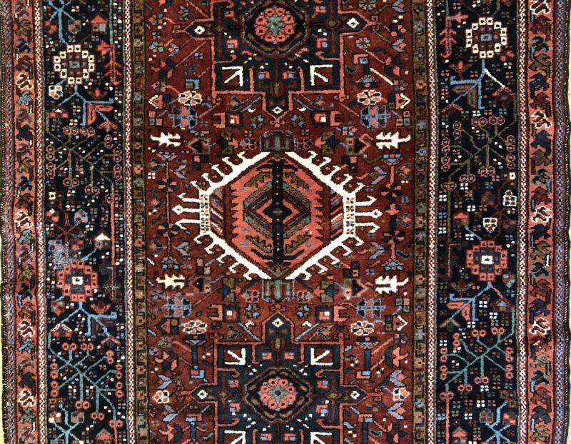 Tremendous Tribal - 1920s Antique Oriental Rug - Nomadic Carpet - 4.8 X 6.7 Ft