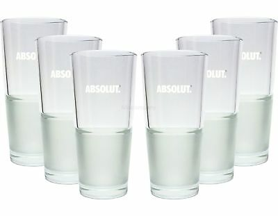 Absolut Vodka Wodka Glas Gläser-Set - 6x Longdrink Bar Cocktail Glas