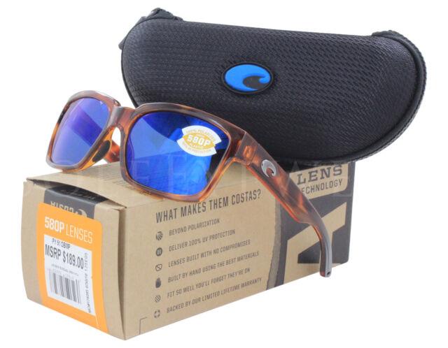 e6501f6f77 NEW Costa Del Mar Playa Honey Tortoise Blue Mirror PY51 OBMP 580P Sunglasses