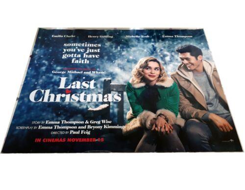 Last Christmas UK cinema quad poster Emilia Clarke Henry Golding Wham!