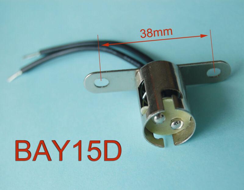 10pcs BAY15D Bayonet Light Bulb Brake Lights Socket