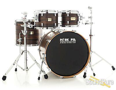 Pork Pie 4pc Maple/Ash Drum Set- Macassar Ebony Veneer