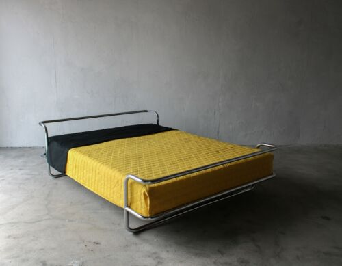 Vintage Queen Chrome Bed by Ikea