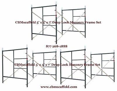 3 Set Of 5 X 5 X 7 Masonry Bj Drop Lock 1.69 Scaffold Frame Set Cbmscaffold