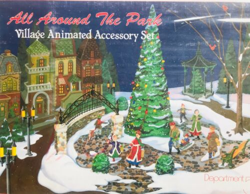 DEPT 56 #5247-7 All Around the Park Village Animated Accessory Set Christmas