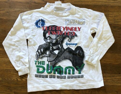 Vintage 1995 GOOSEBUMPS The Dummy T Shirt -  SIZE YOUTH SMALL - RARE!