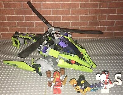 Lego 9443 Ninjago Rattlecopter Complete Set With Minifigures