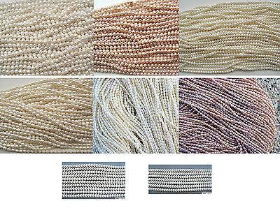 Verschiedene Süßwasserperlen Süßwasser Perlen Zuchtperlen Strang neu Auswahl