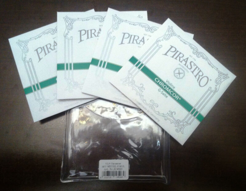 Pirastro Chromcor *4/4 Full Size* Violin Medium String Set Chrome Steel Ball End