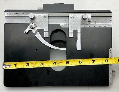 Leitz Orthoplan Microscope Part Large Square Mechanical Stagecondenser Holder