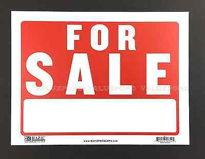 For Sale Sign 9 X 12 Flexible Plastic Red