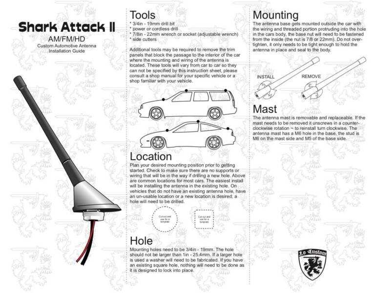 Powered Stubby Antenna for Mazda MX5 NA/