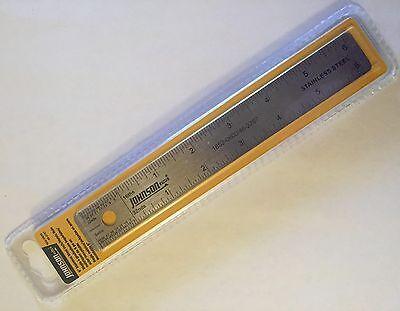 New Nip Johnson 6 Stainless Steel Inch Metric Rule Ruler 1852-0600 Ss