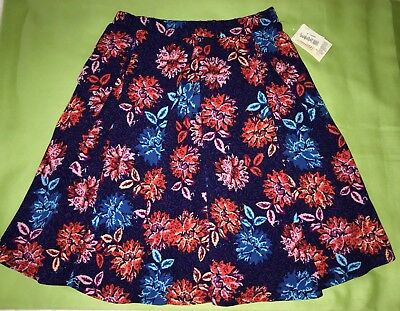 NWT LulaRoe Sz XL Pleated Stretch Floral SKIRT Pull On Style Made in USA