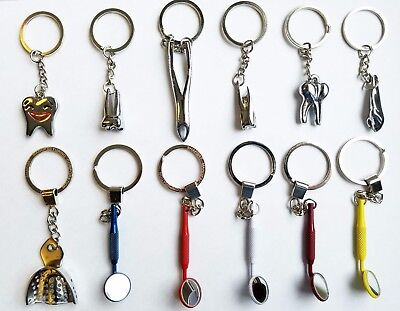 Assorted Dental Clinic Tool Keychain Dentist 12 Pieces  Free Usa Shipping