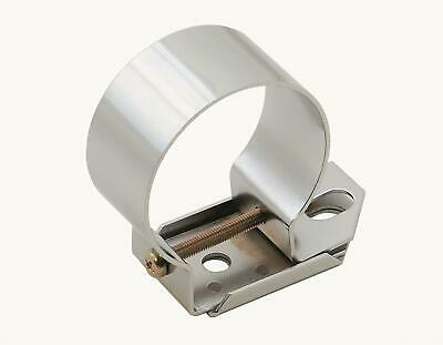Chrome Ignition Coil Bracket Cannister Tube Horizontal Mount Ford Style Holder