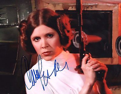 """Carrie Fisher Star Wars Princess Leia   Signed Autographed 8x10"""" Photo  16217"""