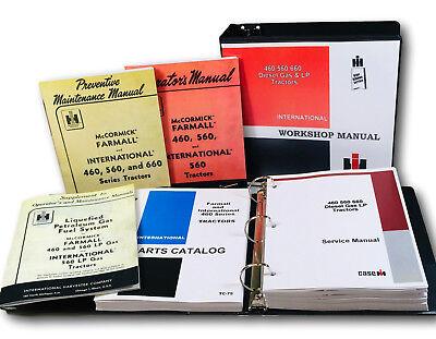 International Farmall 460 Gas Lp Tractor Service Operator Parts Shop Manual