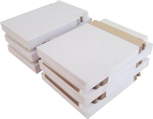 "(100) Paperboard 5"" Single CD DVD Disc Boxes Mailers Self-Sealing Ship #CDBC05PB"
