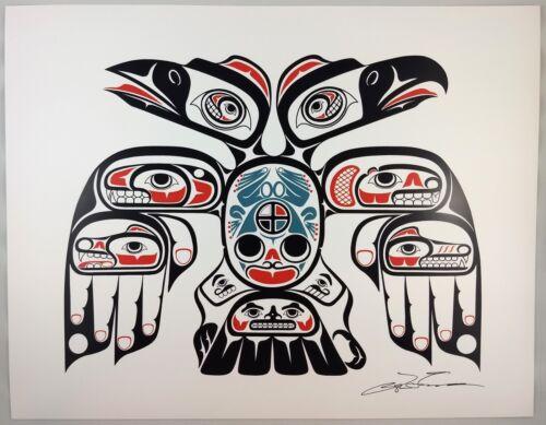 Connections Lon French Signed Print Haida Northwest Coast Native Art