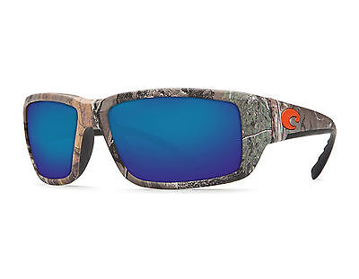 806abe91b9c74 New Costa Del Mar TF69OBMP Fantail Realtree Blue Mirror Glass 580p  Sunglasses