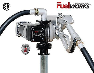 Fuelworks Fuel Transfer Pump 12 Volt 15 Gpm Diesel Gas Gasoline Kerosene Car