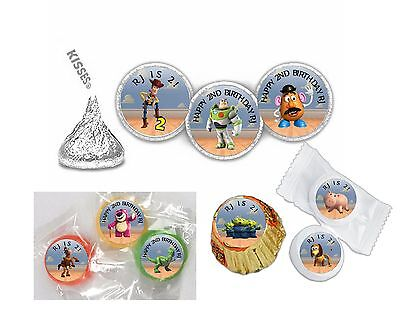 108 Toy Story Birthday Hershey Kiss Labels Favors Stickers Personalized ANY