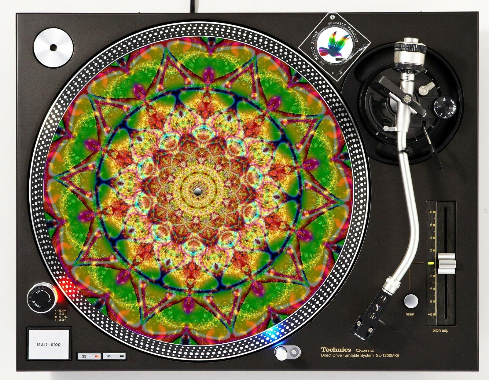 "Psychedelic Mandala - DJ Turntable Slipmat 12"" LP Vinyl Reco"