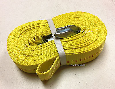 Heavy Duty Tow Strap - Heavy Duty 2 inches x 20 ft Tow Strap with 2 Safety Hooks 2