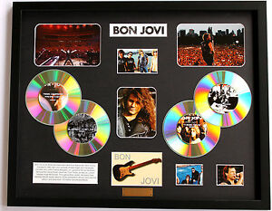 New Bon Jovi Signed Limited Edition Memorabilia Framed