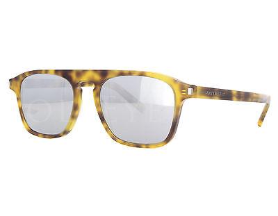 2273f8e498 NEW Yves Saint Laurent SL158 003 52mm Havana   Silver Sunglasses