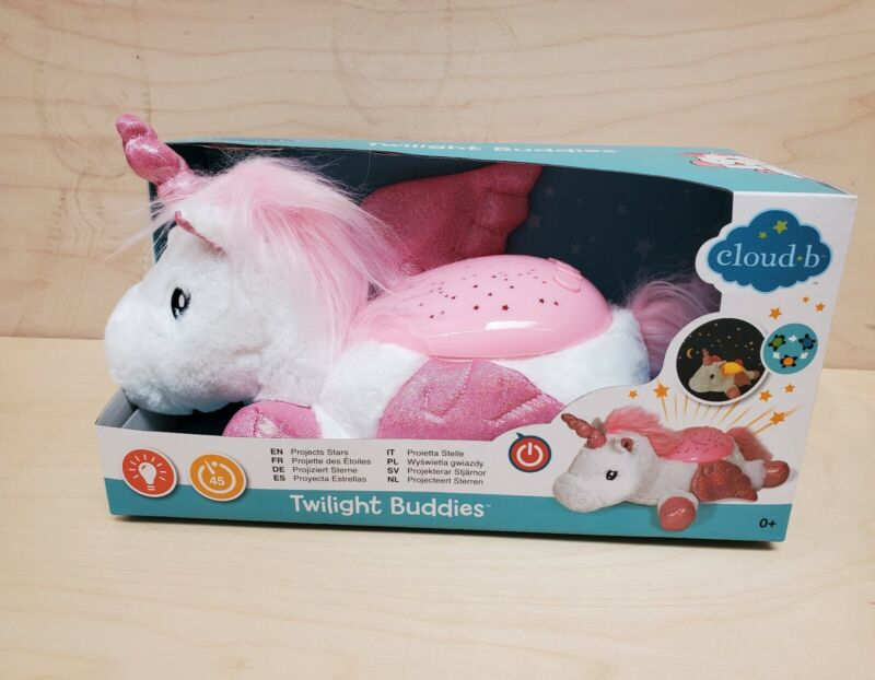 Cloud b Twilight Buddies Winged Unicorn Night Light Soother - NEW