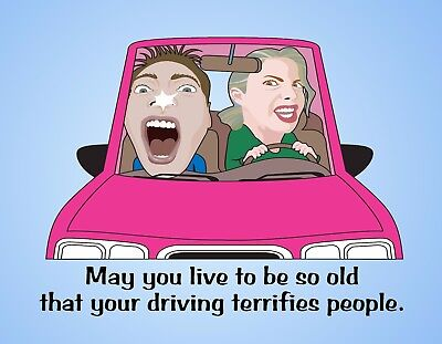 Used, METAL REFRIGERATOR MAGNET So Old Driving Terrifies People Humor Family Friend for sale  Shipping to India