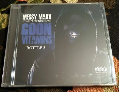 SEALED Bay Area Rap CD MESSY MARV Present: Goon Vitamins Bottle 3 CLICK CLACK M-