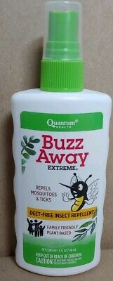 Quantum Buzz Away Extreme Deet-Free Insect Repellent 4oz Buzz Away Insect Repellant