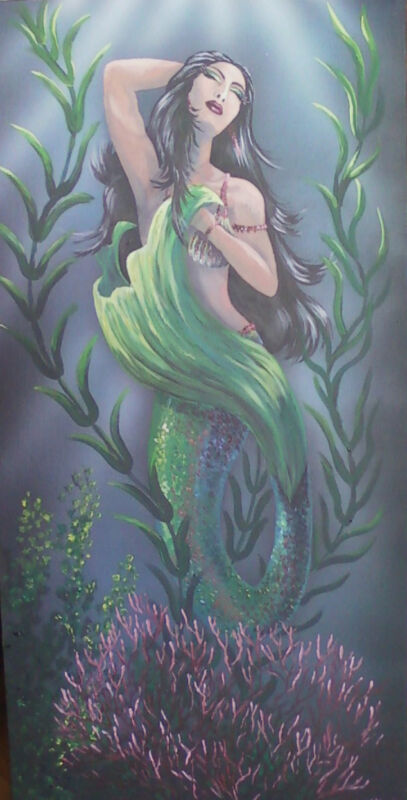 Mermaid original painting on canvas