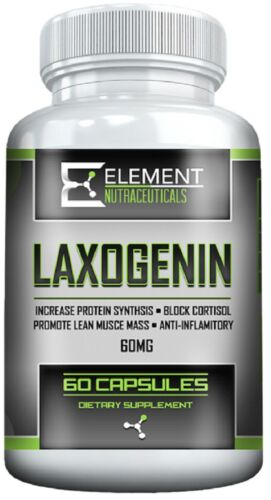 LAXOGENIN (60mg per serving x 60 servings) by Element Nutraceuticals