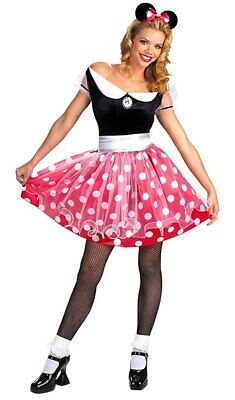 Brand New Disney Minnie Mouse Deluxe Adult Halloween Costume 12-14