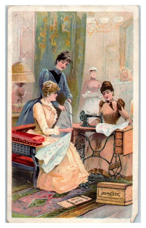 Ladies Domestic Sewing Machine and Patterns Victorian Trade Card *VT17