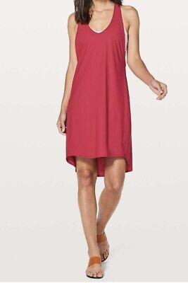 NWT LULULEMON REJUVENATE DRESS RUBY RED SIZE 4 $98