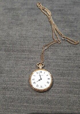 Diantus Vintage Pocket Watch Chain Gold Plated Swiss Made Hand Wound