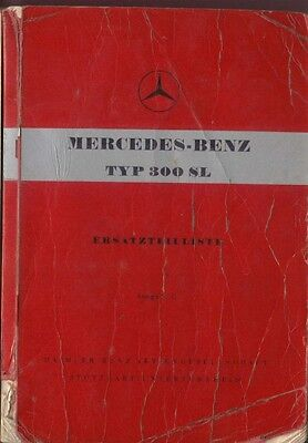 Mercedes Benz 300 SL Gullwing Coupe 1956 Original Spare Parts List In German