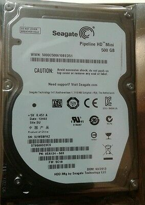 Seagate  2 5  500Gb Hard Drive 9Mm 5400 Rpm St9500323cs