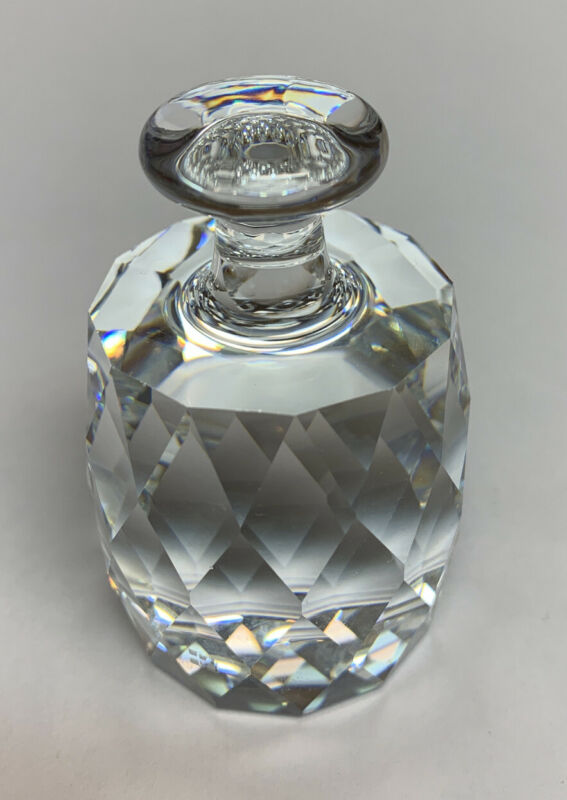 """Swarovski Silver Crystal Paperweight. 2 1/2"""" High By 1 1/2 """" Wide. Excellent."""
