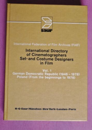 R80151 International Directory of Cinematographers, Set- and Costume 3 BÄNDE