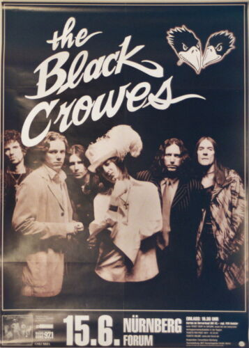 BLACK CROWES CONCERT TOUR POSTER 1999 BY YOUR SIDE