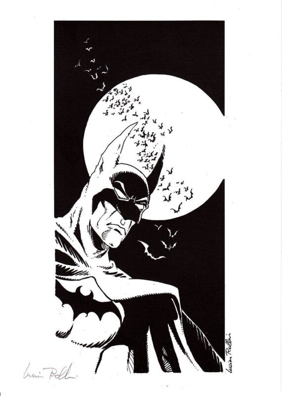 BATMAN 1999 ex-libris by Lucien Rollin (France) - signed - only 200 pcs - RARE !
