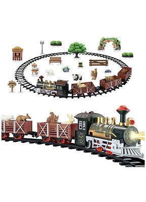 Classic Christmas Train Set With Light Sound Kids Toy Children Gift whit animal